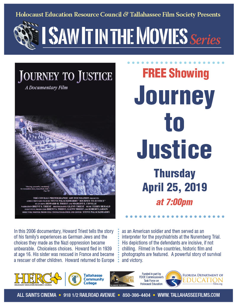 Journey to Justice – I Saw it in the Movies Series - April 25
