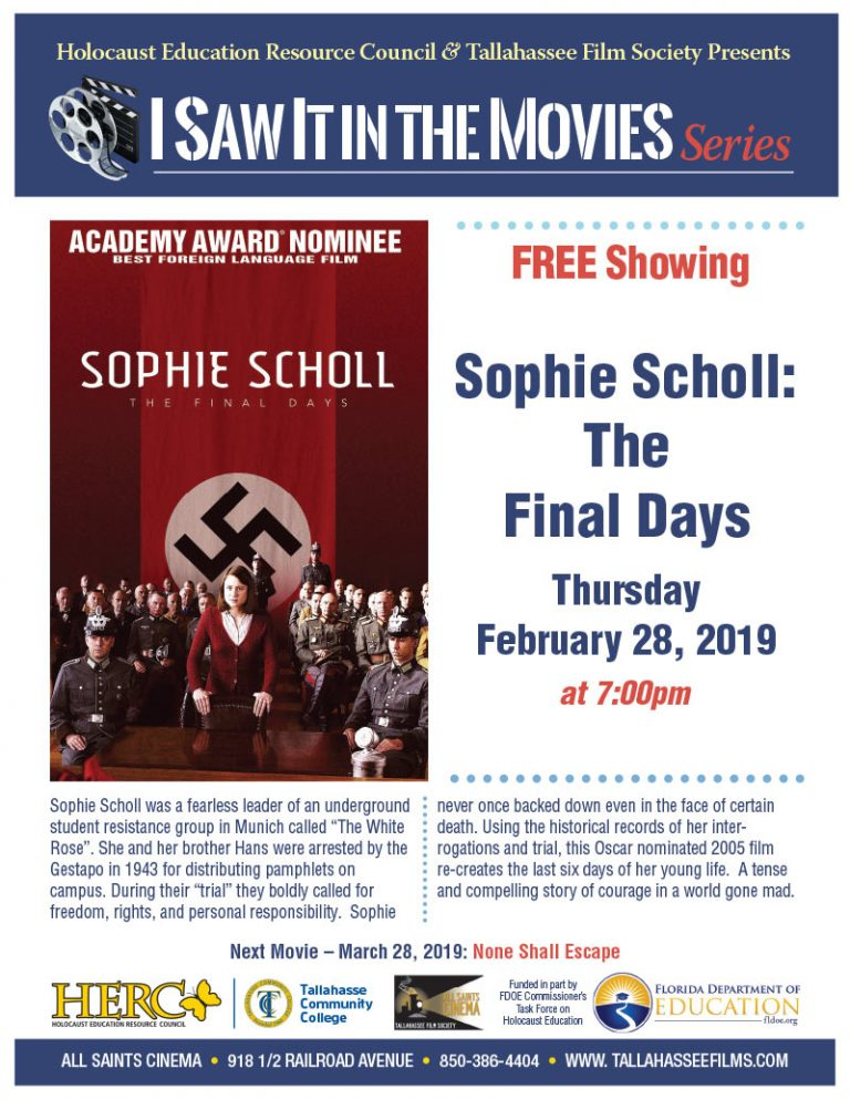 Sophie Scholl: The Final Days – I Saw it in the Movies Series - February 28