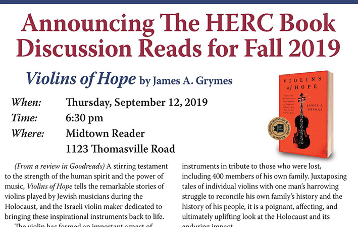 HERC Book Discussion Reads for Fall 2019